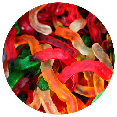 Assorted Gummi Worms