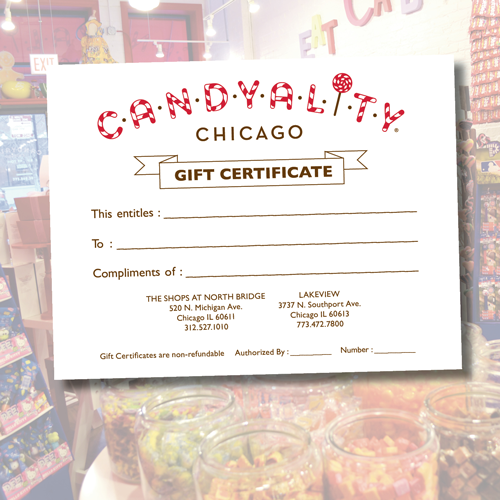 Candyality Gift Certificate