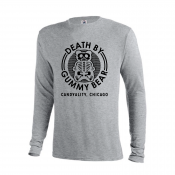 Death By Gummy Bear Grey Long-Sleeved Shirt